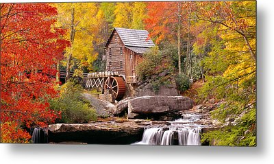Usa, West Virginia, Glade Creek Grist Metal Print by Panoramic Images