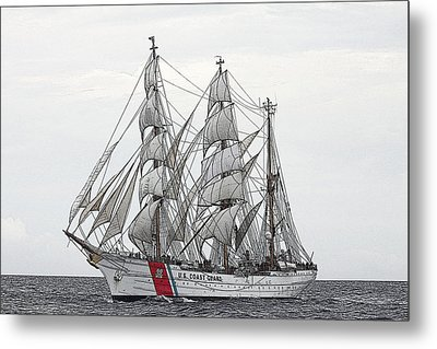 Uscg Barque Eagle Metal Print by Max Mudie