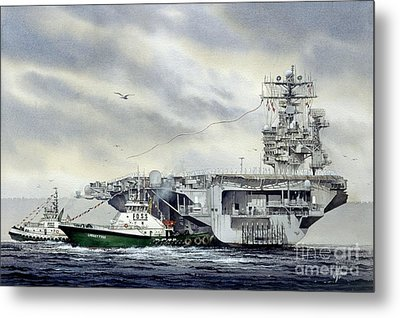 Uss Abraham Lincoln Metal Print by James Williamson