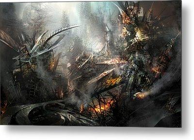 Utherworlds Ashes Metal Print by Philip Straub