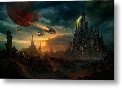 Utherworlds Sosheskaz Falls Metal Print by Philip Straub