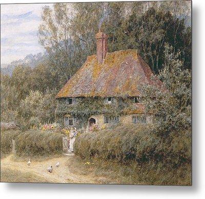 Valewood Farm Under Blackwood Surrey  Metal Print by Helen Allingham