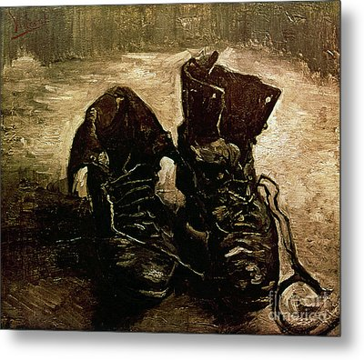 Van Gogh Boots 1886 Metal Print by Granger