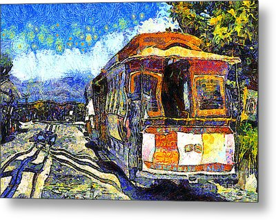 Van Gogh Vacations In San Francisco 7d14099 Metal Print by Wingsdomain Art and Photography