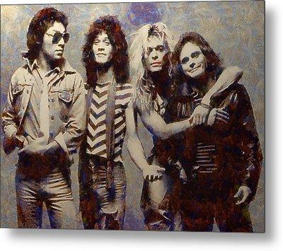 Van Halens Classic Early Lineup Metal Print by Aaron Stokes