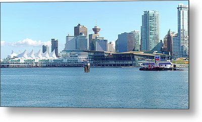 Vancouver Bc Waterfront Skyline Panorama. Metal Print by Gino Rigucci