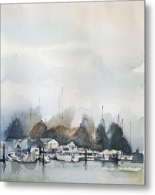 Vancouver Boats Metal Print by Stephanie Aarons