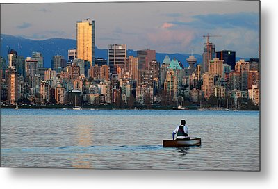 Vancouver Canoe Metal Print by Pierre Leclerc Photography