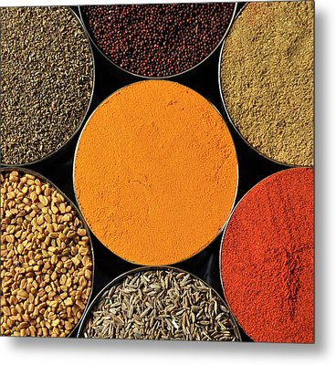 Various Kind Of Spices Metal Print by PKG Photography