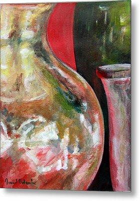 Vase Metal Print by Muriel Dolemieux