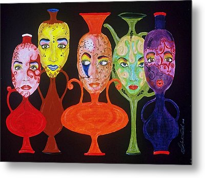 Vases With Faces Metal Print by Shellton Tremble