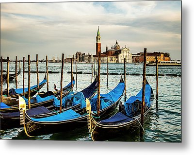 Venetian Gondolas Metal Print by Andrew Soundarajan
