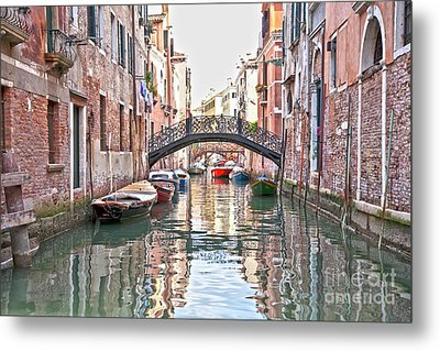 Venice Bridge Crossing 2 Metal Print by Heiko Koehrer-Wagner