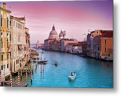 Venice Canale Grande Italy Metal Print by Dominic Kamp Photography