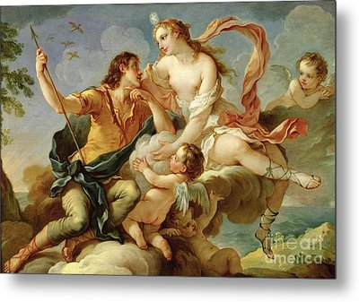 Venus And Adonis  Metal Print by Charles Joseph Natoire