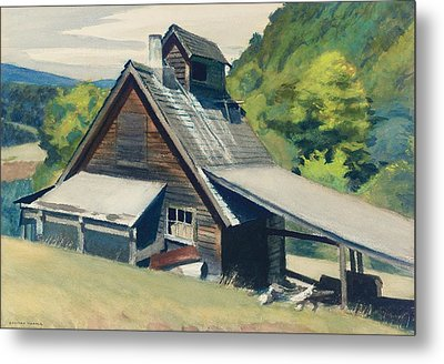 Vermont Sugar House Metal Print by Edward Hopper
