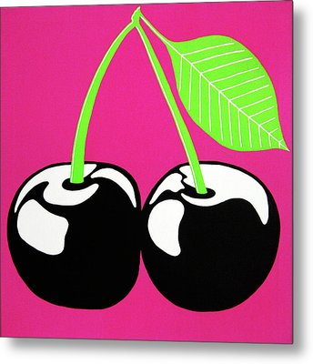 Very Cherry Metal Print by Oliver Johnston