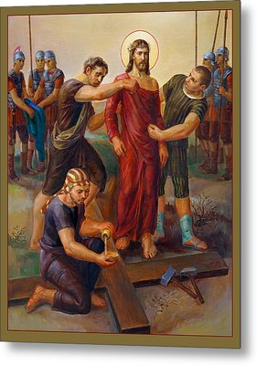 Via Dolorosa - Disrobing Of Christ - 10 Metal Print by Svitozar Nenyuk