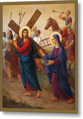 Via Dolorosa - The Way Of The Cross - 4 Metal Print by Svitozar Nenyuk