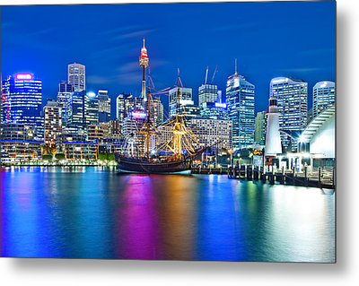 Vibrant Darling Harbour Metal Print by Az Jackson