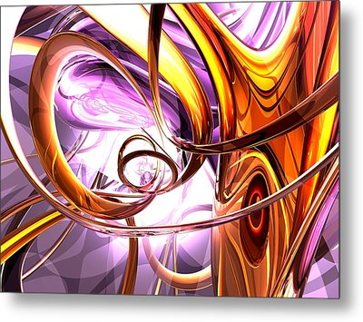 Vicious Web Abstract Metal Print by Alexander Butler