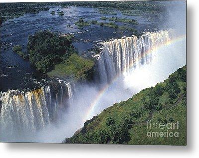 Victoria Falls Rainbow Metal Print by Sandra Bronstein