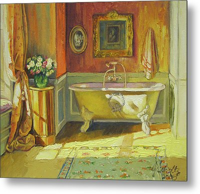 Victorian Bath Metal Print by Jonel Scholtz