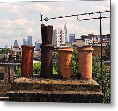 Victorian London Chimney Pots Metal Print by Rona Black