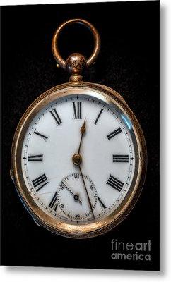 Victorian Pocket Watch Metal Print by Adrian Evans
