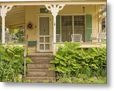 Victorian Style Cottage Porch Northport Maine Metal Print by Keith Webber Jr