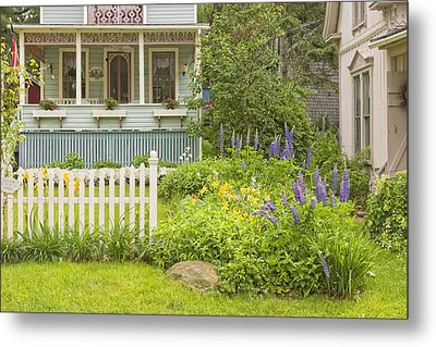 Victorian Style Gingerbread Cottage Northport Maine Metal Print by Keith Webber Jr