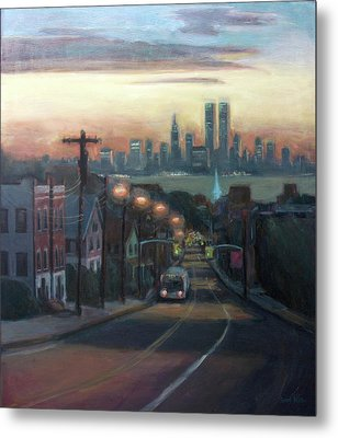 Victory Boulevard At Dawn Metal Print by Sarah Yuster