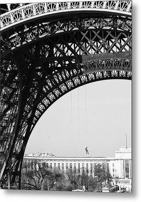 View Beneath Eiffel Tower Metal Print by Diana Haronis