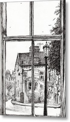 View From Old Hall Hotel Metal Print by Vincent Alexander Booth