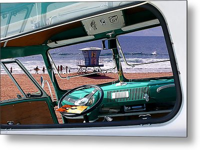 View From The Bus Metal Print by Ron Regalado
