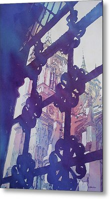View From The Cloister Metal Print by Jenny Armitage