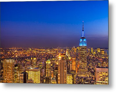 View From The Top - Nyc Skyline Metal Print by Mark E Tisdale