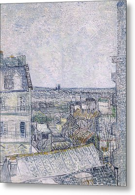 View From Vincent's Room In The Rue Lepic Metal Print by Vincent van Gogh