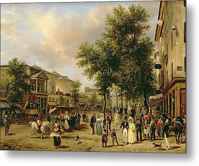View Of Boulevard Montmartre Metal Print by Guiseppe Canella