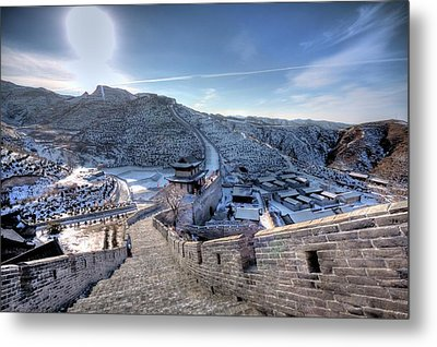 View Of Great Wall Metal Print by Photograph by Sunny Ip.