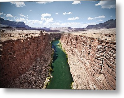 View Of Marble Canyon From The Navajo Bridge Metal Print by Ryan Kelly