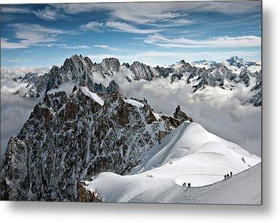 View Of Overlooking Alps Metal Print by Ellen van Bodegom
