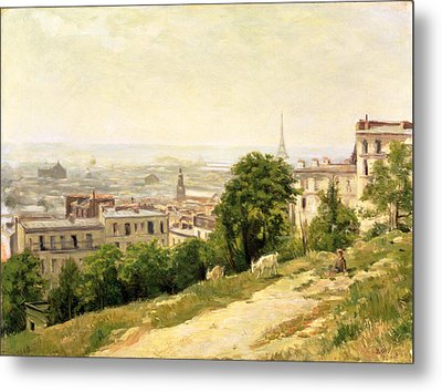 View Of Paris Metal Print by Stanislas Victor Edouard Lepine