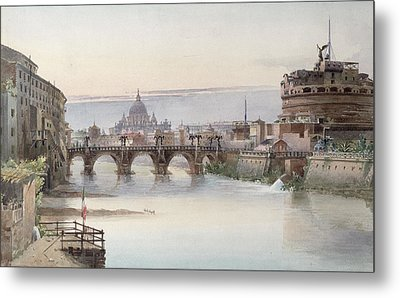 View Of Rome Metal Print by I Martin
