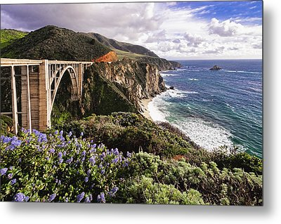 View Of The Bixby Creek Bridge Big Sur California Metal Print by George Oze