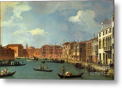 View Of The Canal Of Santa Chiara Metal Print by Canaletto