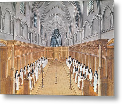 View Of The Choir Metal Print by Louise Madelaine Cochin