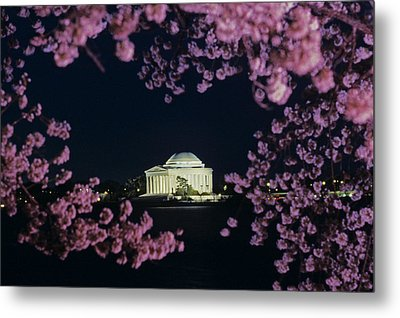 View Of The Jefferson Memorial Metal Print by Kenneth Garrett