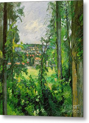 View Of The Outskirts Metal Print by Paul Cezanne