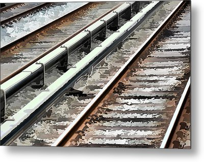 View Of The Railway Track  Metal Print by Lanjee Chee